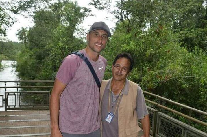 Manu Ginobili visitó las Cataratas