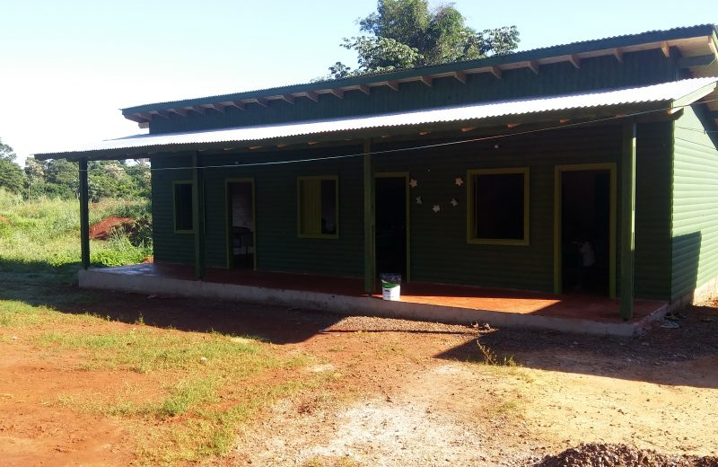 La Escuela de la Aldea Ita Poty Miri ya cuenta con aulas