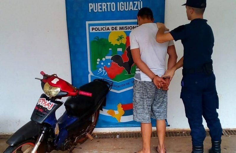 Recuperaron una motocicleta robada y detuvieron al autor del ilícito