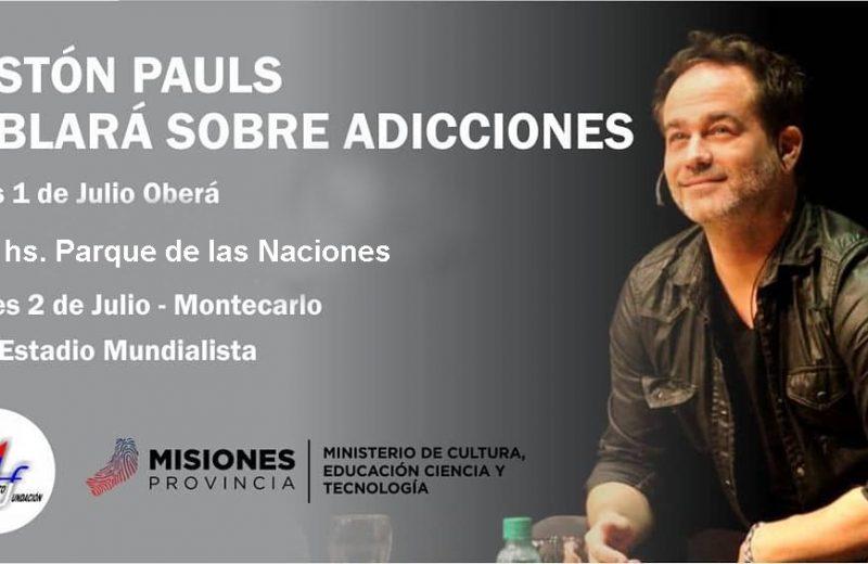 Gastón Pauls hablara de consumo de drogas en Montecarlo y Oberá