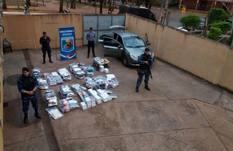 Secuestraron mercaderías de contrabando por 300 mil pesos