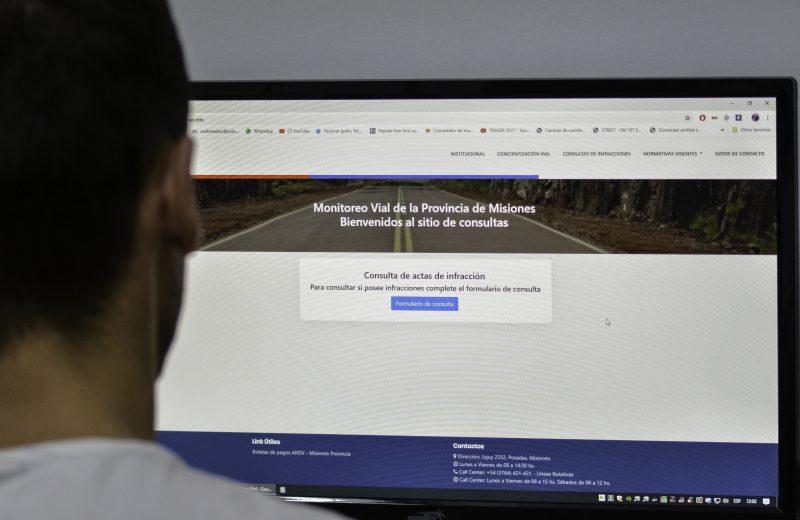 Ya se pueden consultar las infracciones de tránsito en un sitio web