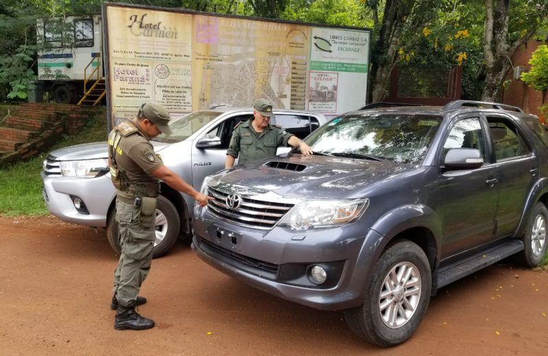Gendarmería secuestró dos camionetas con documentación adulterada en Urugua-í