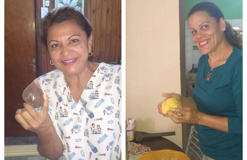 Venezolanas profesionales de la salud venden comidas y helados para sobrevivir