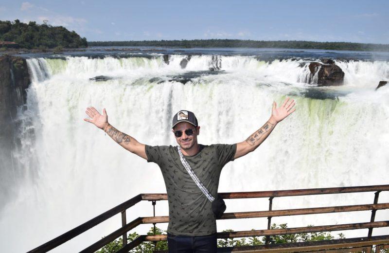 Rodrigo Mora ex jugador de River visitó Cataratas