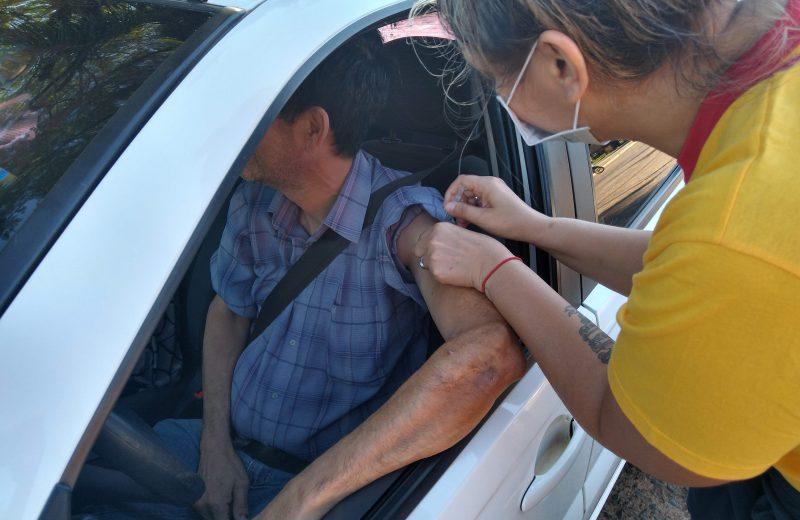 Exitosa campaña de vacunación antigripal Auto-Vac