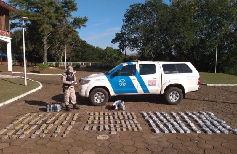Incautaron más de 44 kilos de marihuana abandonada en la costa del rio Paraná