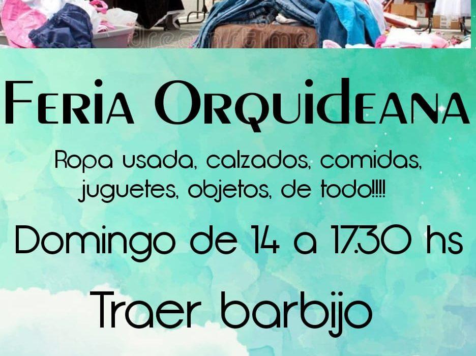 """Este domingo habrá """"feria Orquideana""""."""