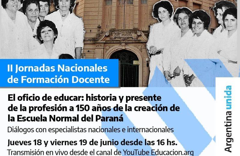 """Están abiertas las inscripciones para la II Jornada Nacional de Formación Docente """"El oficio de educar"""""""