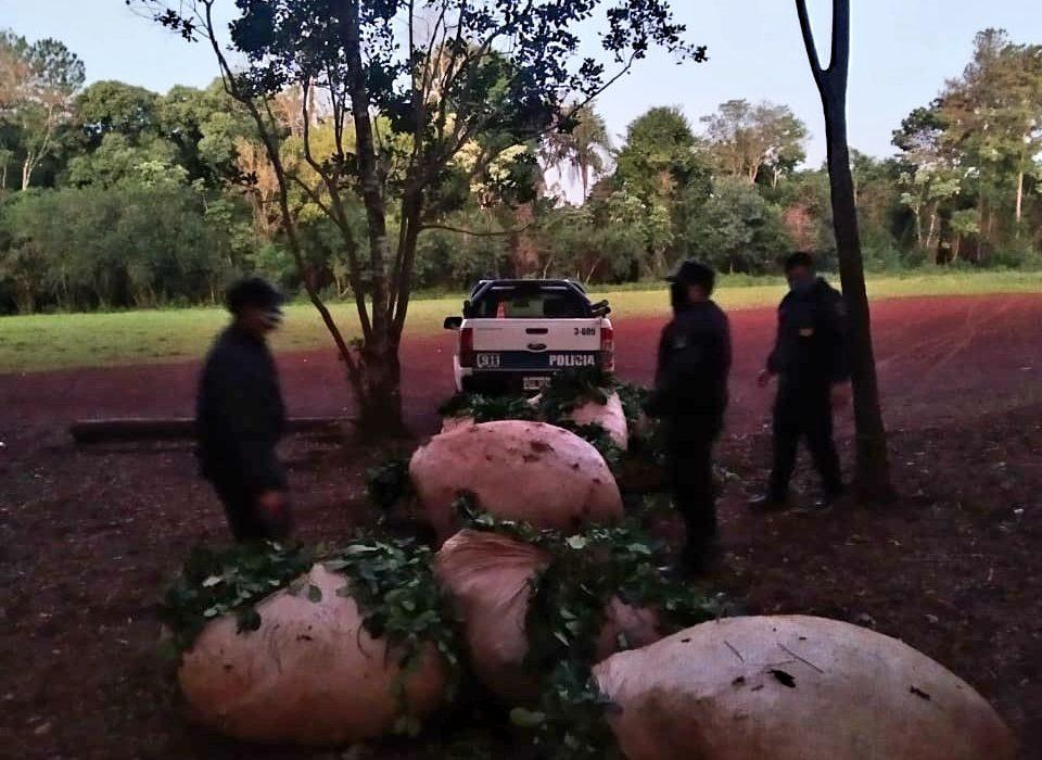 Libertad: los sorprendieron robando casi una tonelada de hoja verde de yerba mate