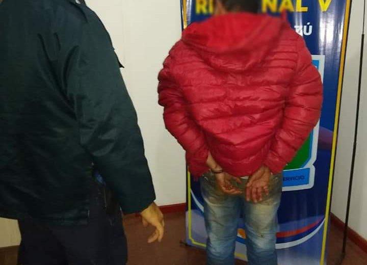 Agredió con un cuchillo a su concubina y fue detenido