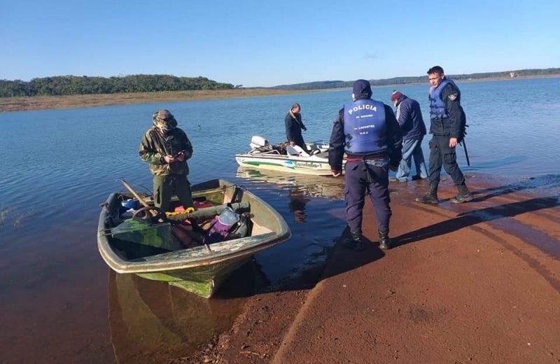 Continúa la búsqueda del joven que desapareció en las aguas del lago Urugua-i
