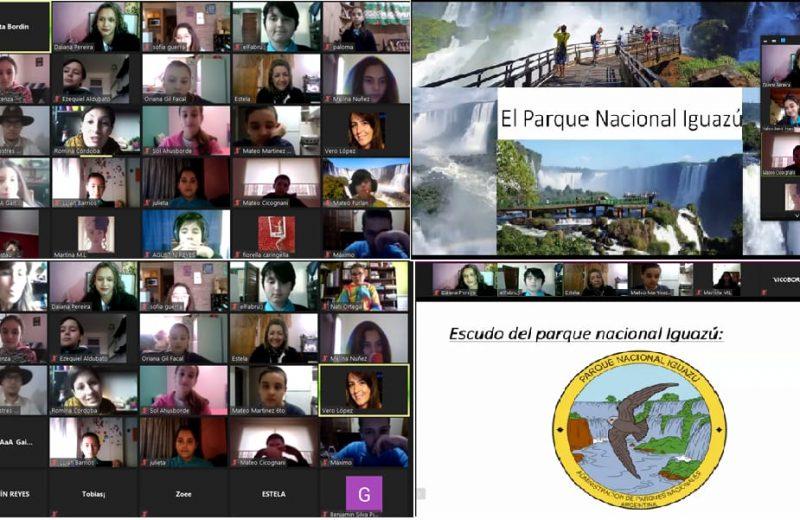 Alumnos de una escuela de Mar del Plata conocieron las Cataratas por video conferencia