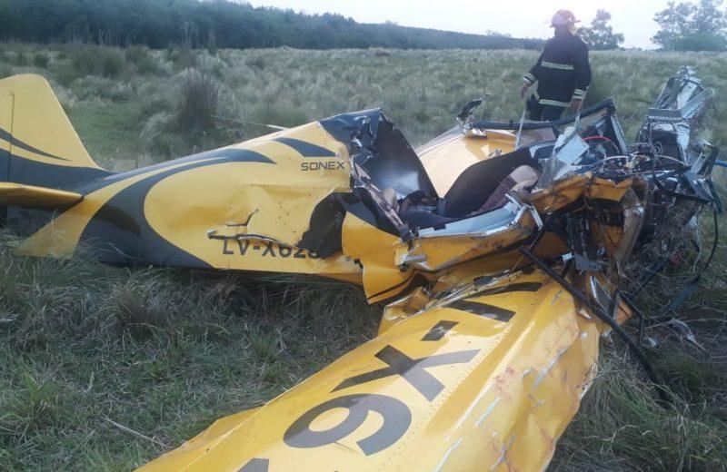 Cayó una avioneta en Parada Leis: falleció el piloto y hay un herido
