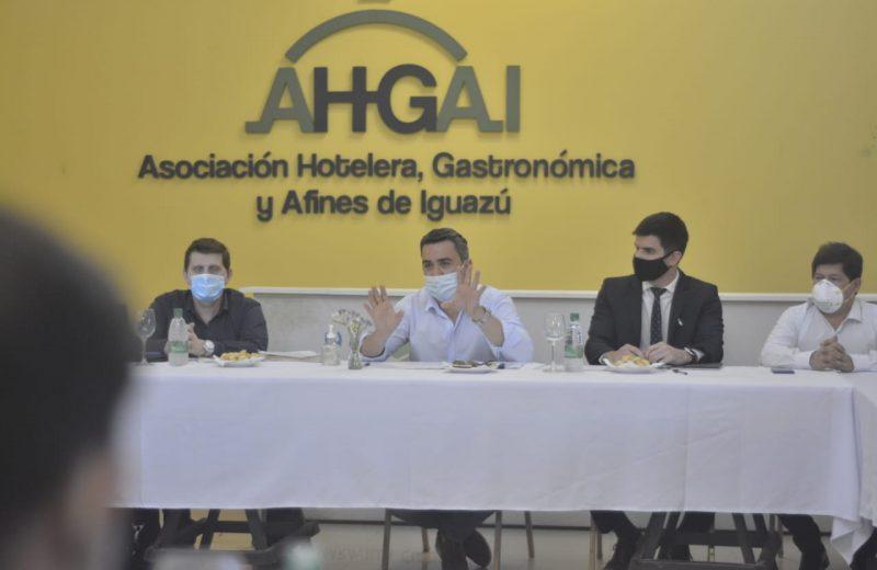 Funcionarios provinciales se reunieron con el comité de crisis SOS Iguazú