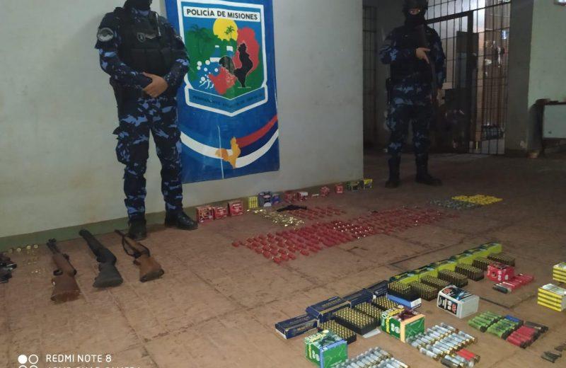 Incautaron en su domicilio armas y municiones tras la denuncia de amenazas de su hijo
