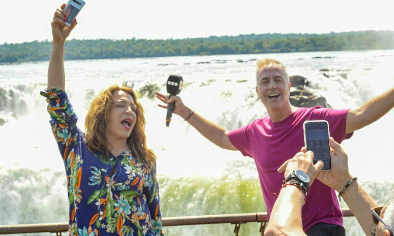 Marley y Lizy Tagliani visitaron cataratas