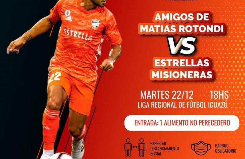 Futbolistas destacados de Misiones jugarán un partido solidario a beneficio de los merenderos de Iguazú