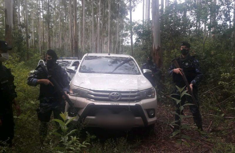 Recuperaron la camioneta robada en un rápido operativo