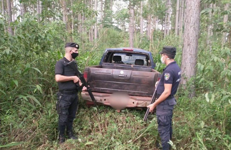 Puerto Esperanza: hallaron otra camioneta abandonada en el monte