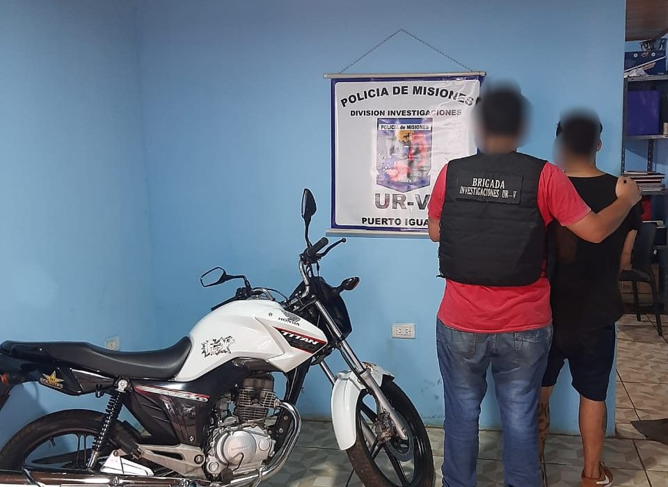 "Capturaron a presunto ""motochorro"" involucrado en dos robos en Puerto Iguazú"
