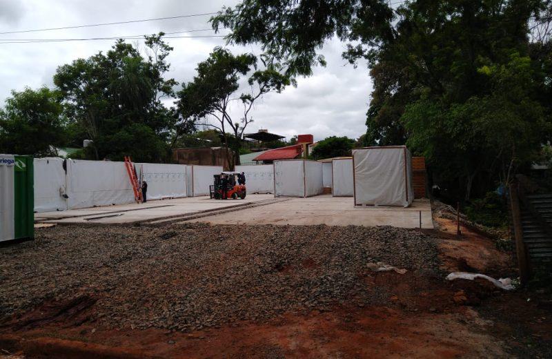 Comenzó el montaje de la estructura del hospital Turístico Modular de Iguazú