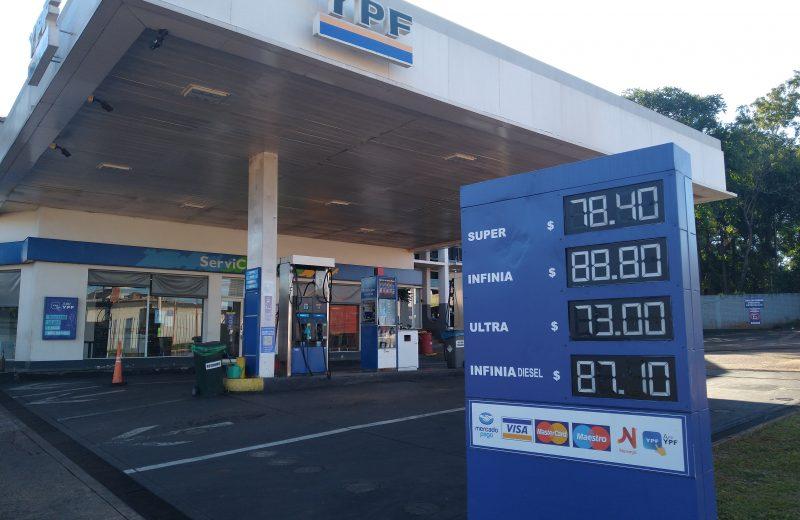 En 20 días el litro de nafta súper subió casi 2 pesos en Iguazú