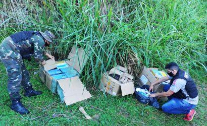 Prefectura incautó artículos electrónicos abandonados en las malezas