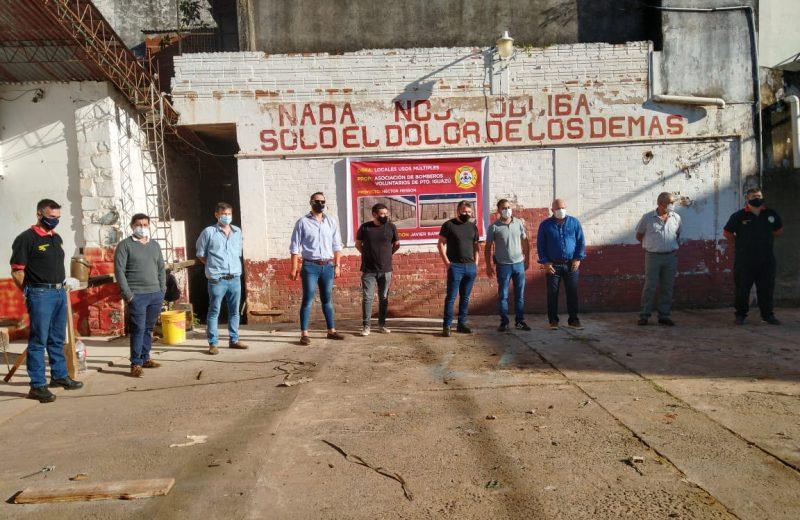 Bomberos voluntarios de Iguazú iniciaron las obras de locales de usos múltiples