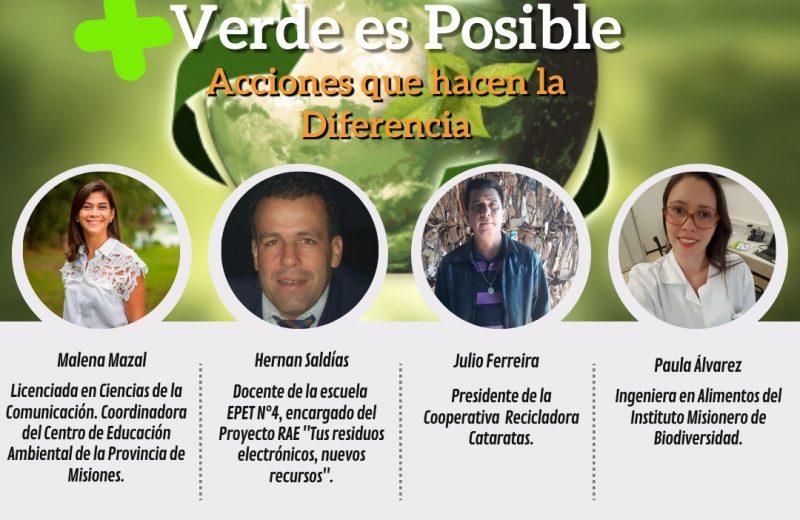 """Webinar """"Mas verde es posible: Acciones que hacen la diferencia"""""""