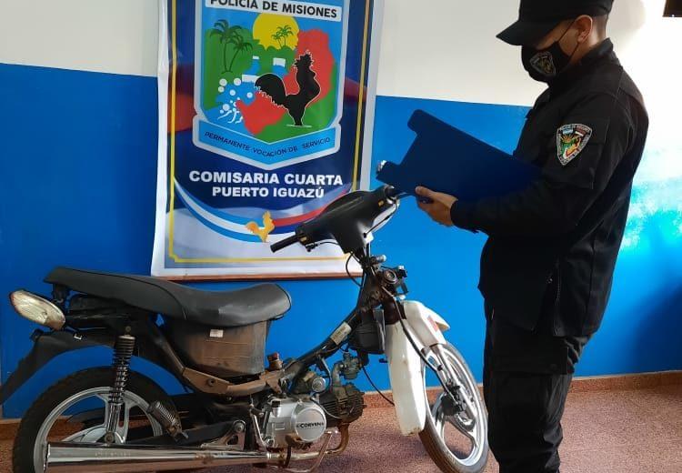 Compró una moto de dudosa procedencia, resulto ser robada y la entregó a las autoridades