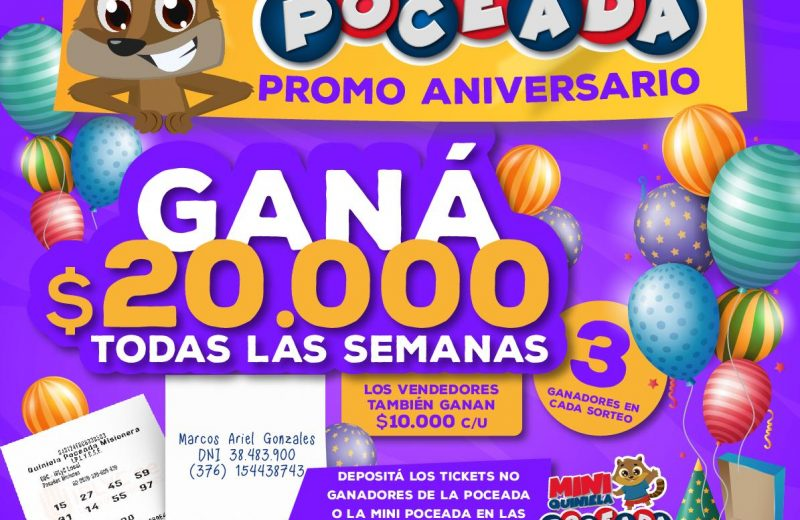 En Agosto, los apostadores podrán ganar 20 mil pesos con el ticket no ganador de la poceada