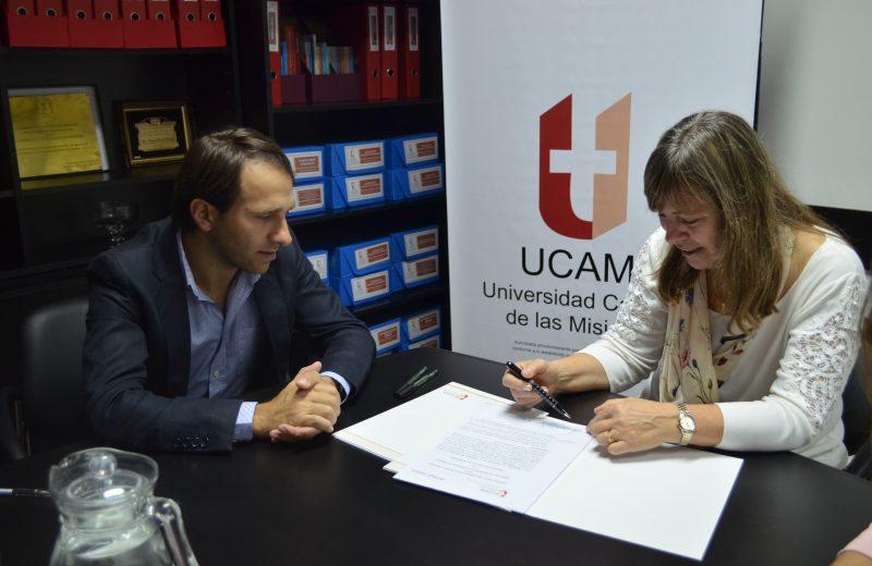 El Ministerio de Deportes y la UCAMI firmaron convenio marco de cooperación