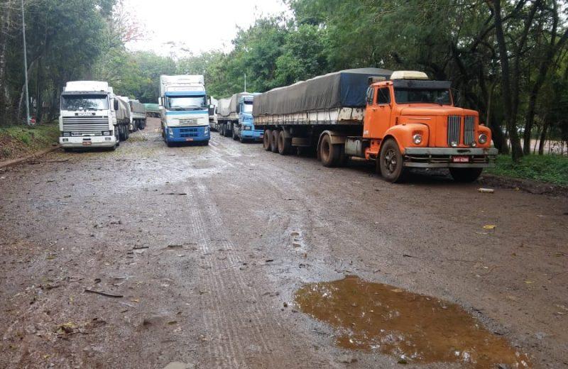 Robaron al menos 6 camiones al amanecer del sábado en Iguazú