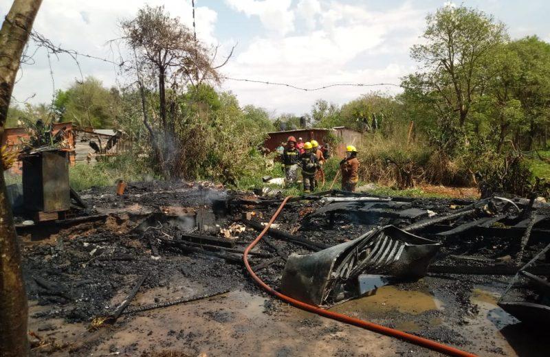 Una pelea familiar terminó con una vivienda en llamas