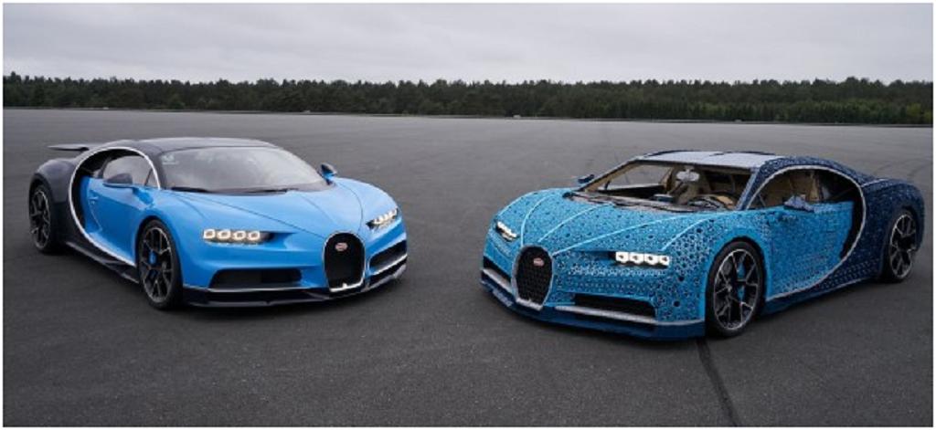 Este Bugatti construido con piezas de Lego circula a 30 km/h