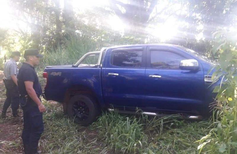 Esperanza: Hallaron un vehículo abandonado en una zona rural