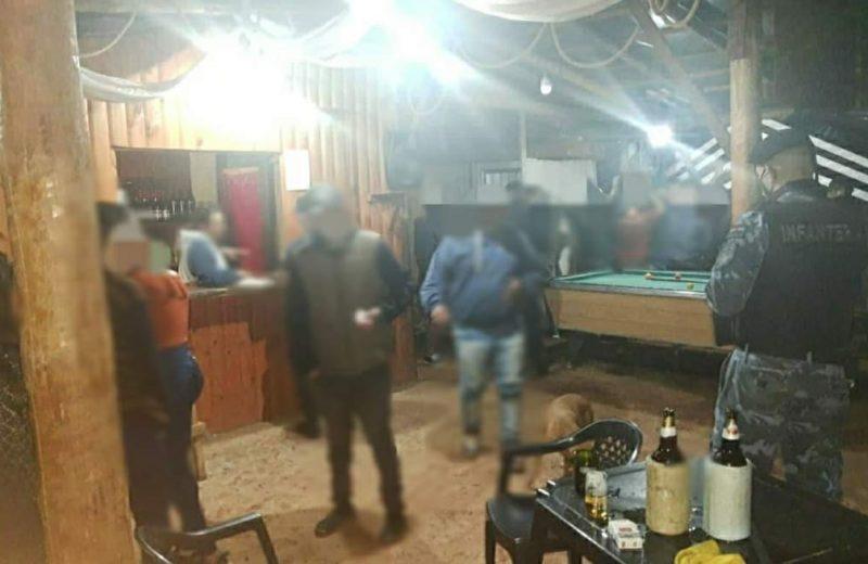 La policía intervino en un bar pool por incumplimiento a las medidas de bioseguridad