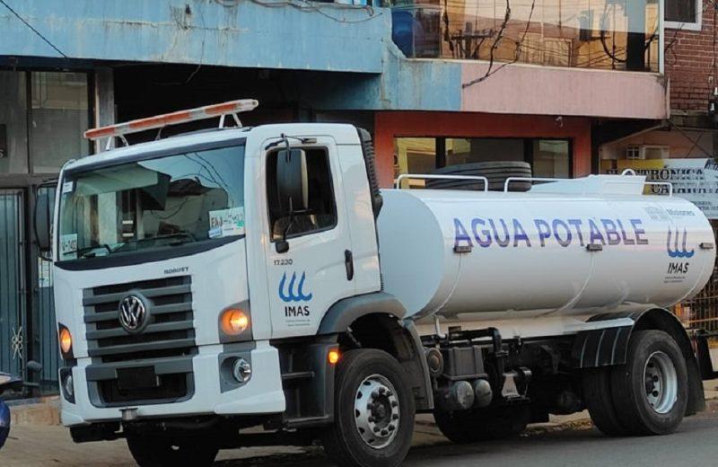 IMAS comenzó a distribuir agua en camiones a los usuarios que soliciten el servicio