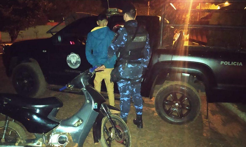 La Policía recuperó una moto robada y detuvo a su conductor