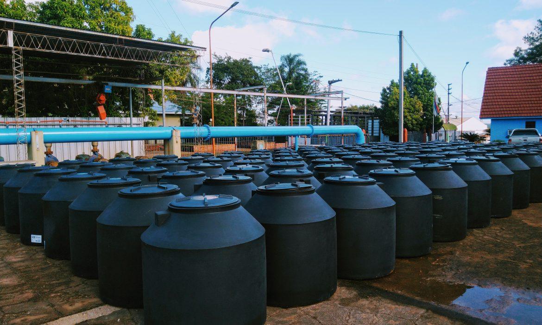 Plan de contingencia: Llegaron 100 tanques para continuar con la distribución
