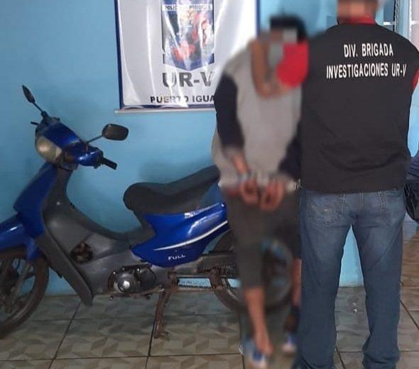 Intentó robar una moto de un hotel y fue detenido