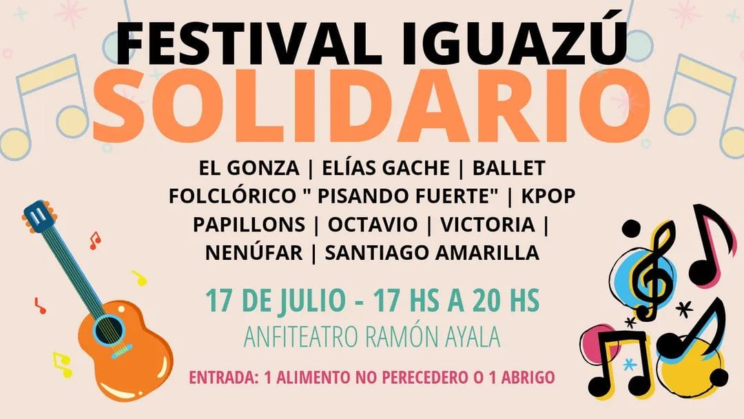 Con el objetivo de reunir donaciones para los que menos tienen organizan un festival solidario