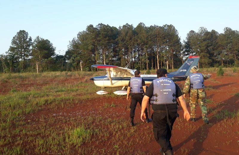 Los ocupantes de la avioneta son argentinos y partieron del aeropuerto de Iguazú