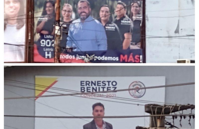 A 3 meses de las elecciones provinciales varios candidatos aún no retiran los carteles